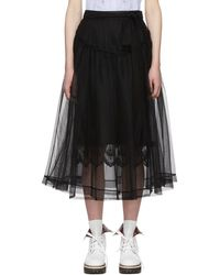 Simone Rocha - Black Bow Belt Tulle Skirt - Lyst