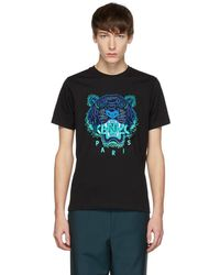 KENZO - Black Limited Edition Holiday Tiger T-shirt - Lyst
