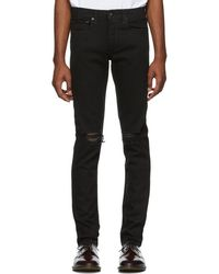 Rag & Bone - Black Fit 1 Distressed Jeans - Lyst