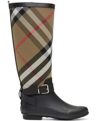 98b7f3327cd Lyst - Burberry Boots - Women s Ankle Boots   Leather Boots