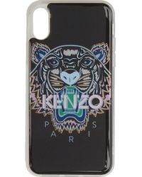 KENZO - Etui pour iPhone X/XS noir et rose Tiger - Lyst