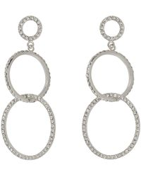 Isabel Marant - Silver Double Circle Earrings - Lyst