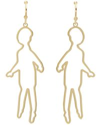 Simone Rocha - Gold Doll Earrings - Lyst