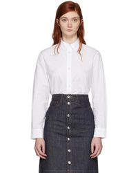A.P.C. - White Gina Shirt - Lyst