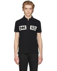 DIESEL - Black And White T-diego Polo - Lyst