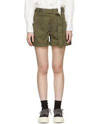 Proenza Schouler - Khaki Slouchy Shorts - Lyst