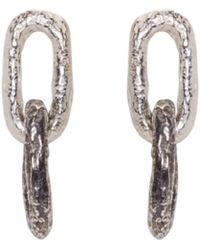 Pearls Before Swine - Silver Double Link Earrings - Lyst