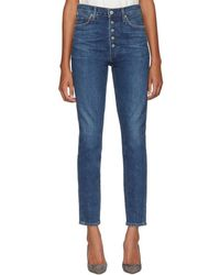 Citizens of Humanity - Blue Olivia High-rise Exposed Fly Jeans - Lyst