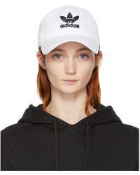 adidas Originals - White Trefoil Cap - Lyst