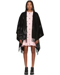 McQ - Black And Grey Swallow Swarm Poncho - Lyst
