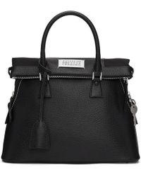Maison Margiela - Black Leather Eco Sustainable Bag - Lyst