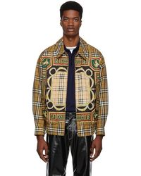 Burberry - Beige Check Shenmore Jacket - Lyst