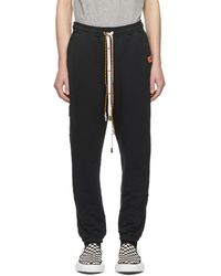 Miharayasuhiro - Pantalon de survetement noir Damaged - Lyst
