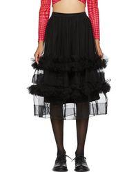 Molly Goddard - Black Akuac Skirt - Lyst