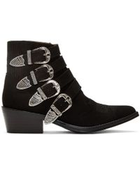 Toga Pulla - Women's Buckle Side Leather Heeled Ankle Boots - Lyst