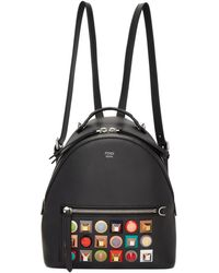 Fendi - Black Mini Rainbow Zaino Backpack - Lyst