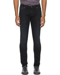 Nudie Jeans - Black Blue Patches Skinny Lin Jeans - Lyst