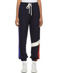ADER error - Navy Colorblock Lounge Pants - Lyst