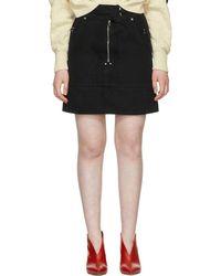 Isabel Marant - Black Natalia Chic Denim Miniskirt - Lyst