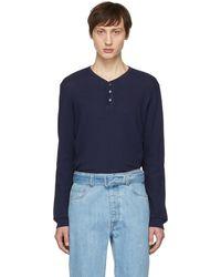 Brioni - T-shirt henley bleu Seraph - Lyst