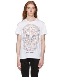 Alexander McQueen - White Jersey Map T-shirt - Lyst