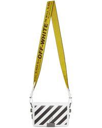 Off-White c/o Virgil Abloh - White Diagonal Mini Binder Clip Flap Bag - Lyst