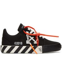 Off-White c/o Virgil Abloh - Black Striped Vulcanized Trainers - Lyst