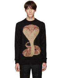 Givenchy - Black Cobra Sweater - Lyst