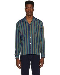 Saturdays NYC - Green And Blue Marco Frequency Shirt - Lyst