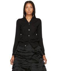 Comme des Garçons - Black Wool Cardigan - Lyst