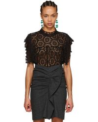 Isabel Marant - Black Kery Broderie Anglaise Blouse - Lyst