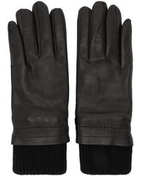 AMI - Black Rib Cuff Gloves - Lyst