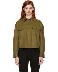 Rag & Bone - Green Cropped Mason Shirt - Lyst
