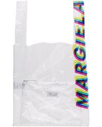 Maison Margiela - トランスペアレント Pvc ロゴ トート - Lyst