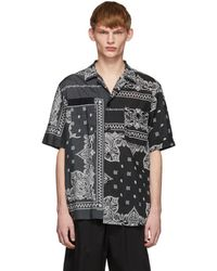 Sacai - Bandana Print Half Sleeve T-shirt - Lyst