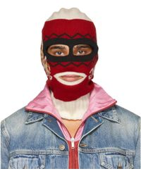 Gucci - Red And White Peru Rabbit Full Balaclava - Lyst