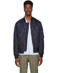 fb9bb5379 Lyst - Kenzo Tiger Bomber Jacket in Blue for Men