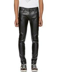April77 - Black Faux-leather Joey Lezzer Jeans - Lyst