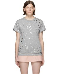 RED Valentino - Grey Cascading Stars T-shirt - Lyst