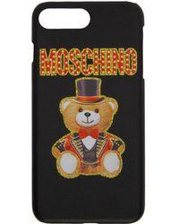 Moschino - Black Teddy Bear Iphone 8 Plus Case - Lyst