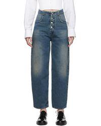 MM6 by Maison Martin Margiela - Blue High-rise Jeans - Lyst