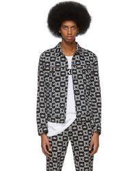 Dolce & Gabbana - Black And White Denim Crown Jacket - Lyst