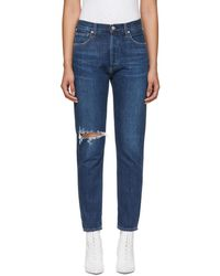 Citizens of Humanity - Blue Liya High-rise Classic Jeans - Lyst