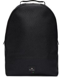 PS by Paul Smith - Black Grained Leather Backpack - Lyst