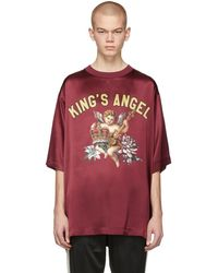 Dolce & Gabbana - Burgundy Silk Kings Angel T-shirt - Lyst