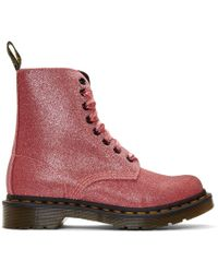 Dr. Martens - Pink Glitter 1460 Pascal Boots - Lyst
