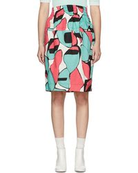 Marc Jacobs - Pink Colorblocked Skirt - Lyst