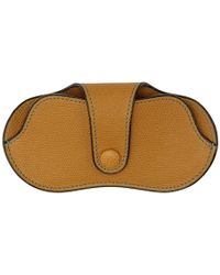 Valextra - Tan Leather Glasses Case - Lyst