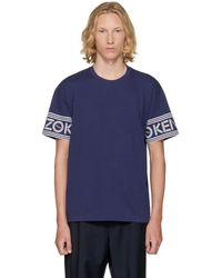 KENZO - Navy Logo Sleeve T-shirt - Lyst