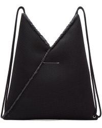 MM6 by Maison Martin Margiela - Black Mesh Drawstring Backpack - Lyst
